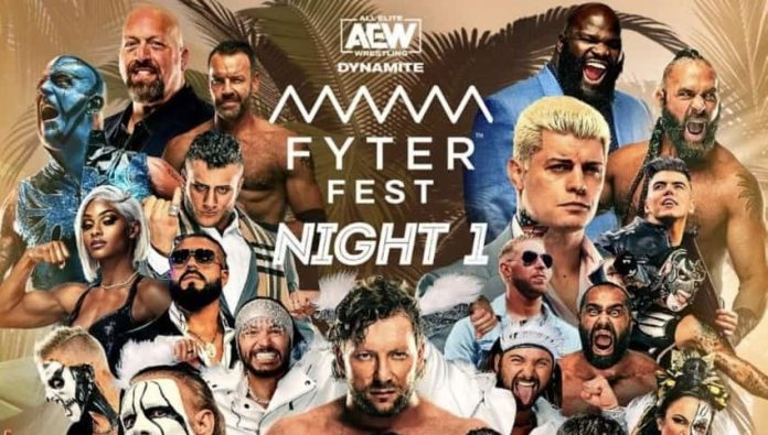 Updated card for next week's AEW Fyter Fester Night 1