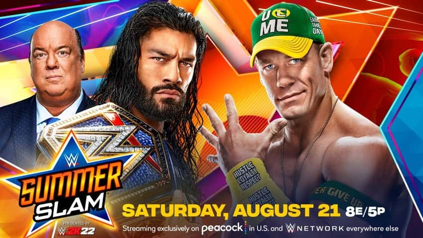 John Cena vs. Roman Reigns for the Universal Title is official for WWE SummerSlam