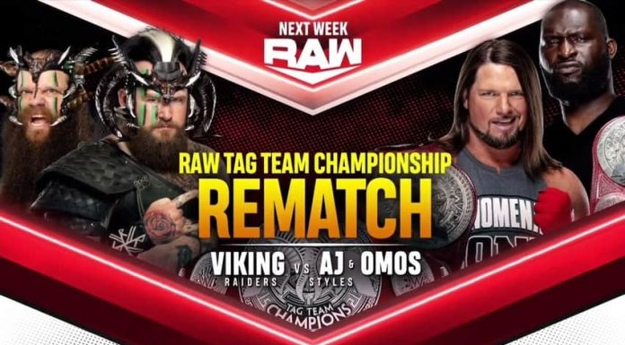 Tag Team Championship rematch set for next week's WWE Raw