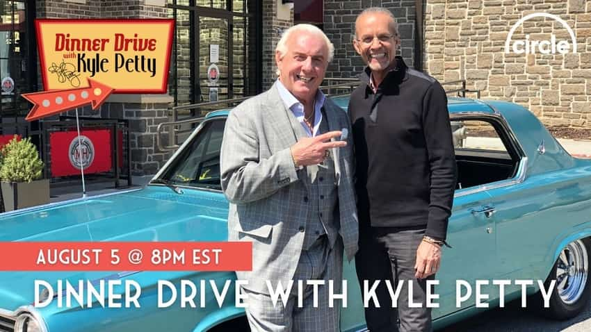 """Ric Flair appearing on """"Dinner Drive with Kyle Petty"""""""