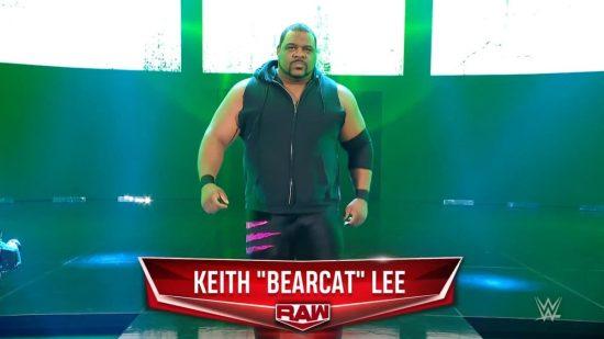 "Keith Lee returns to WWE Raw as ""Bearcat"""