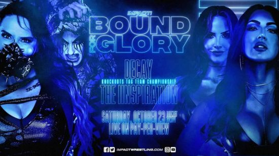The IInspiration challenging for the Knockouts Titles at Bound For Glory