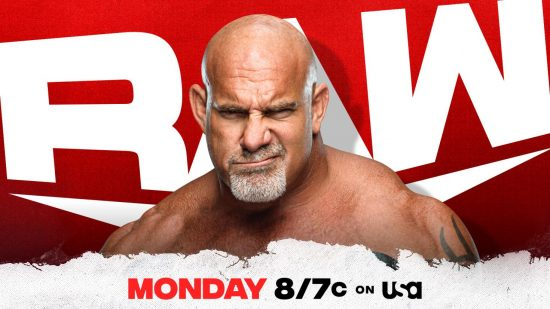 Goldberg confirmed for this Monday's episode of WWE Raw
